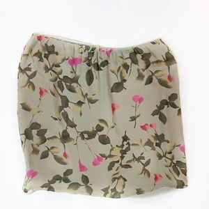 Caslon Silk Floral Skirt Midi Size 1X